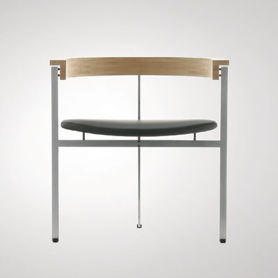 Poul Kjærholm: PK 11, 1957  Made by Kold Christensen. Steel, ash and leather. @designerwallace