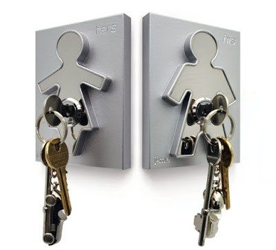Wieszak na klucze His i Hers - Trafiony prezent