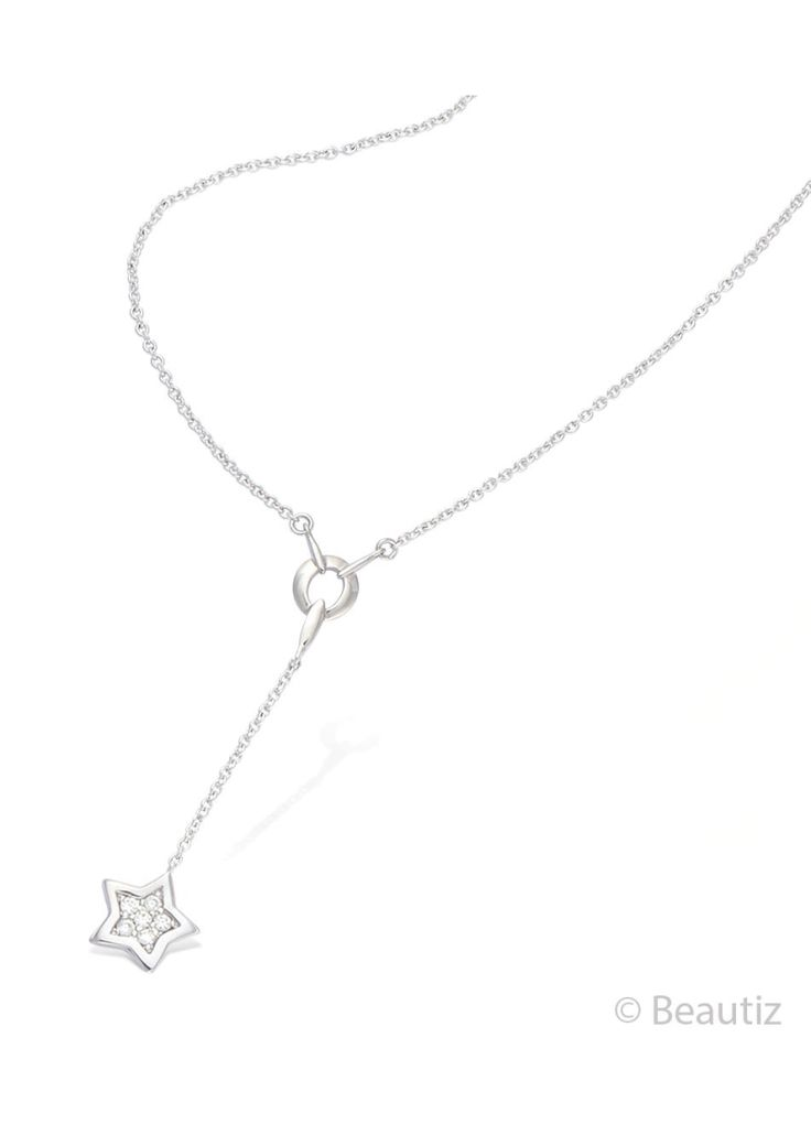 Shooting Star Silver Necklace by Beautiz