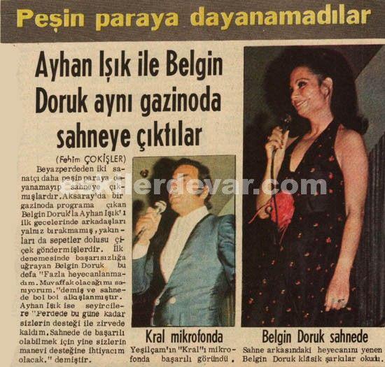 Ayhan Işık ve Belgin Doruk Sahneye çıktılar