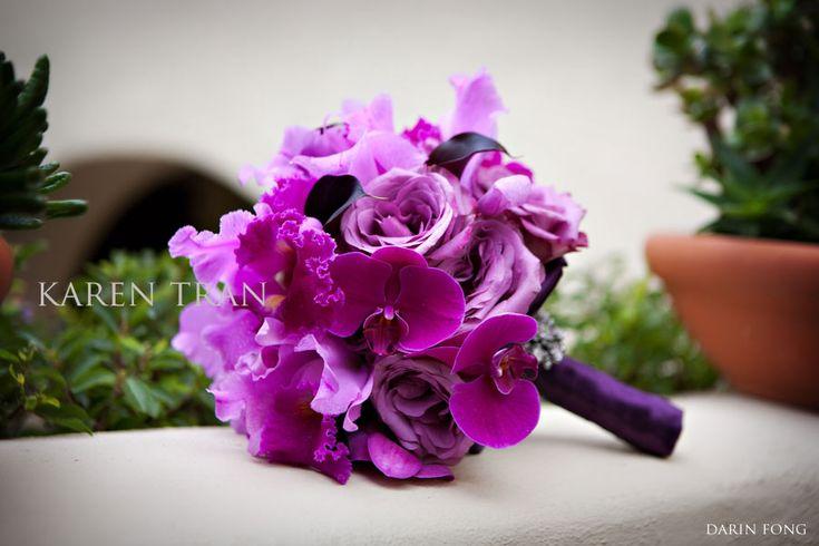 Bouquet Inspiration | Purple, magenta and plum hues bouquet #Purple #Bouquet