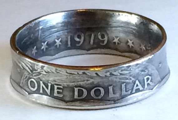 Susan B Anthony Dollar Coin Ring by CoinsOnHand on Etsy