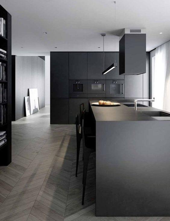 Las 25 mejores ideas sobre cocinas negras en pinterest - Cocina diseno moderno ...