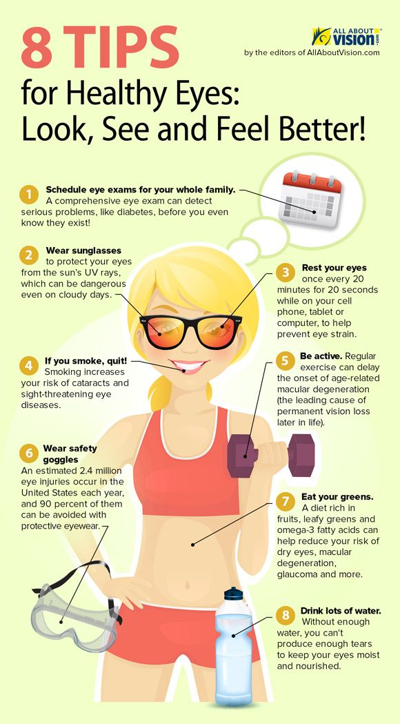 8 Tips for Healthy Eyes This Year      #health #healthinfographics  http://genetichealthplan.com/