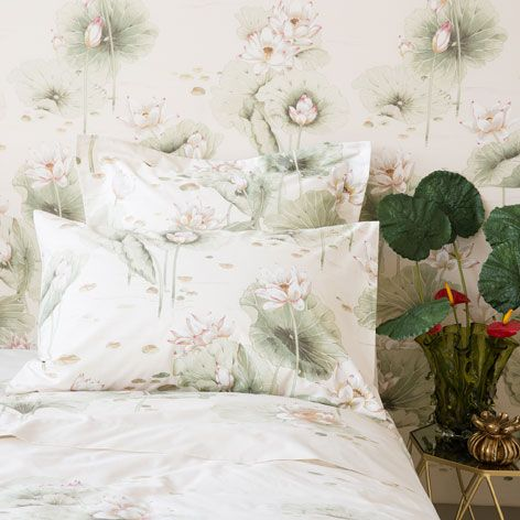 WATER LILY PRINT PERCALE BED LINEN - Bed Linen - Bedroom | Zara Home United Kingdom
