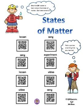 EXPLORING MATTER USING QR CODES - 1st-4th $  Made by QR Queens  Great for centers and early finishers. Such a fun way to learn with differentiation for students using technology!