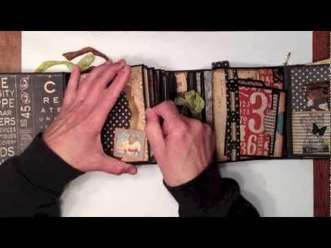 Mini Album Page Tutorial - YouTube by mysistersscrapper.  Tutorial to make an envelope page using card stock instead of a real envelope.