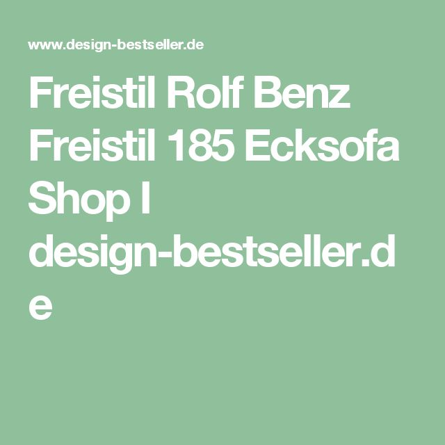 Freistil Rolf Benz Freistil 185 Ecksofa Shop I design-bestseller.de