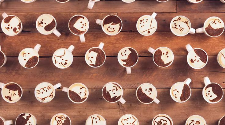 japanese coffee brand animates stop-motion story with 1000 latte artworks