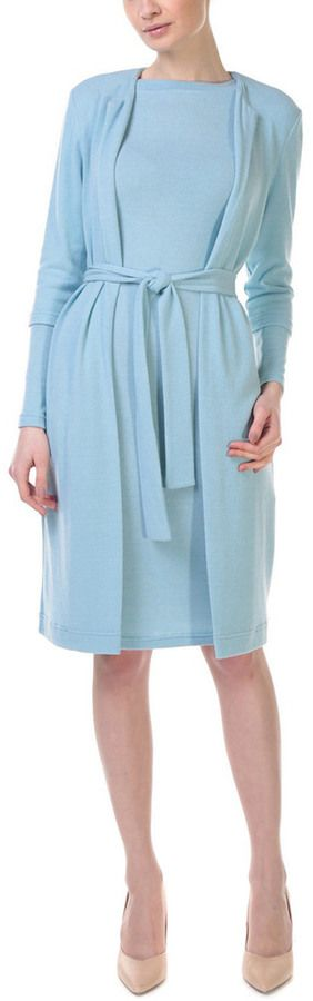 Lila Kass 2Pc Wool-Blend Dress & Cardigan