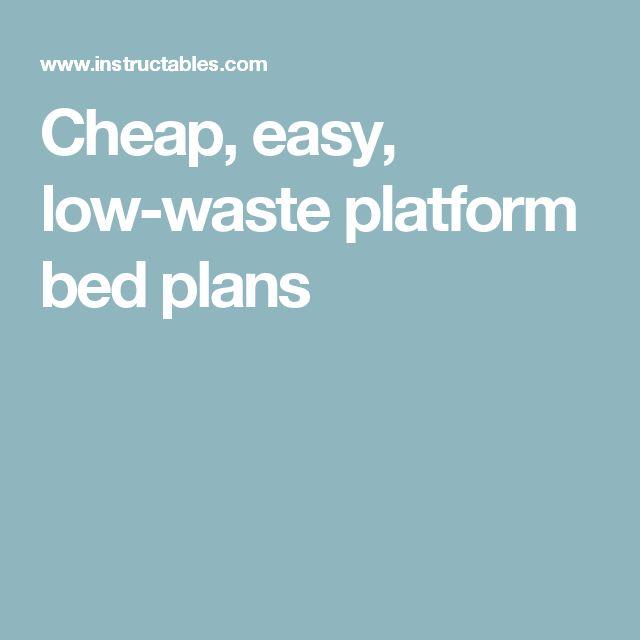 Best 25+ Platform bed plans ideas on Pinterest | Queen ...