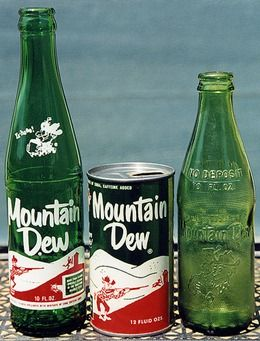 Mountain Dew is a citrus-flavored carbonated soft drink brand produced and owned by PepsiCo. The original formula was invented in the 1940s by two Tennessee beverage bottlers, Barney and Ally Hartman, and was first marketed in Marion, VA, Knoxville and Johnson City, Tennessee. A revised formula was created by Bill Bridgforth in 1958. The Mountain Dew brand and production rights were acquired by the Pepsi-Cola company in 1964, at which point its distribution expanded more widely across the US