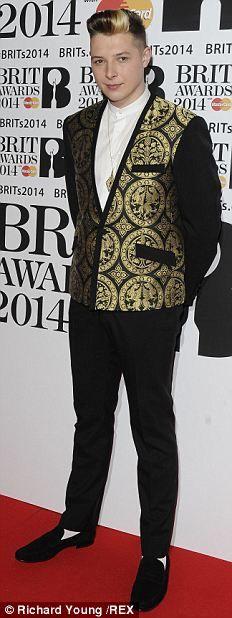 Nominee John Newman at the 2014 Brit Awards.