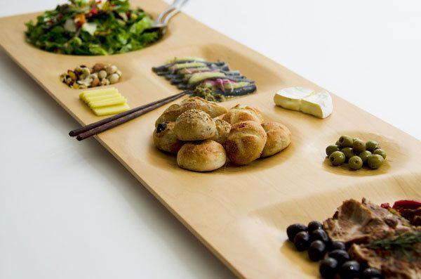 优雅木质餐盘 高端大气上档次