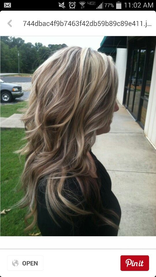 Ash blonde with highlights and a few auburn lowlights. :) love this!