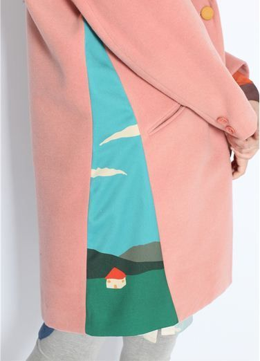 Neverland Collection. limited edition, the price will be raised after every sale.  Sprint coat, pink color, mixed fabric with little house in both side Free size, here's the measurement in cm: Length 87 Chest 114 Shoulder 41 Sleeve 57  The items in the shop take time to finish, the time var
