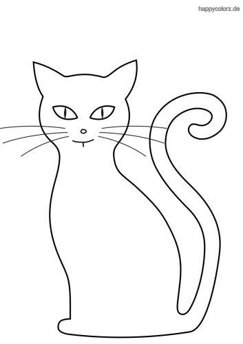 Silhouette Katze Ausmalbild Katze zum ausmalen Ausmalen