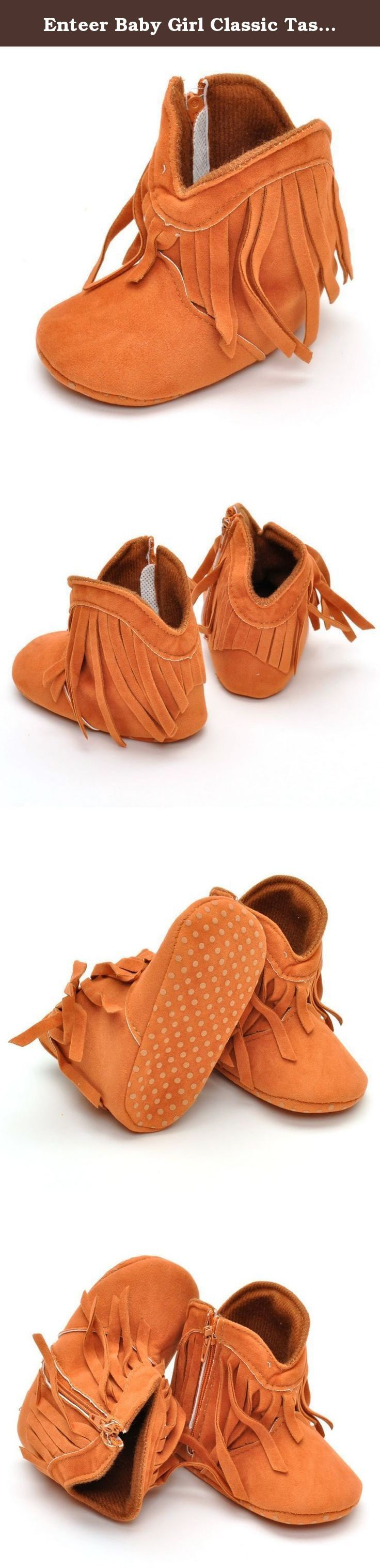 Enteer Baby Girl Classic Tassel Boots (13-18 Months, orange). Enteer baby Cowboy Tassel Boots are perfect for your little Cowboy or Cowgirl. Warm and stylish, these soft soled booties complete the Western look for any Cowboy or Darling Diva. Made from a cotton blend for warm, yet breathable comfort these boots offer a zip closure for easy on and off. Item Type: First Walkers Size: Fit For 0-18 Months Baby Season: Autumn Gender: Baby Girls Specifications: Size S: Recommended Age: 0-6…
