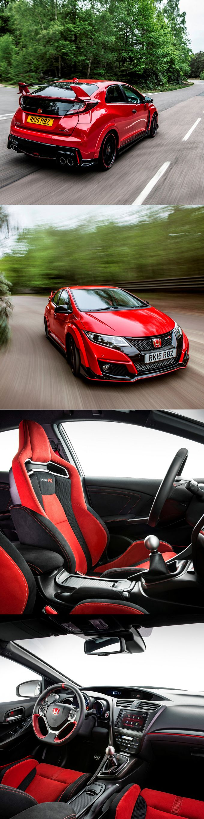 2015 Honda Civic Type R / FK2 / 306hp / red / Japan / hot hatch / 17-149