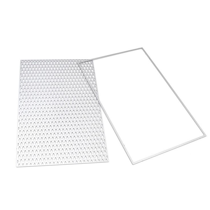 2Pcs fijaron el corte de la rejilla DIY Scrapbooking Plantillas Plantilla Decoración del arte de papel