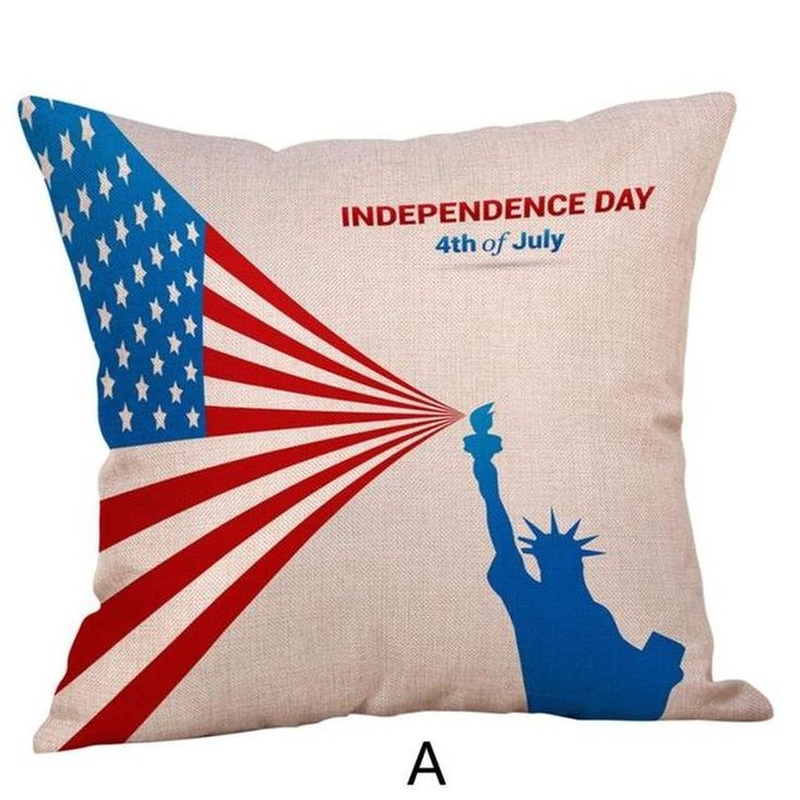 Happy Independence Day Pillow Cases-A51, Multicolor(Cotton, Graphic Print)
