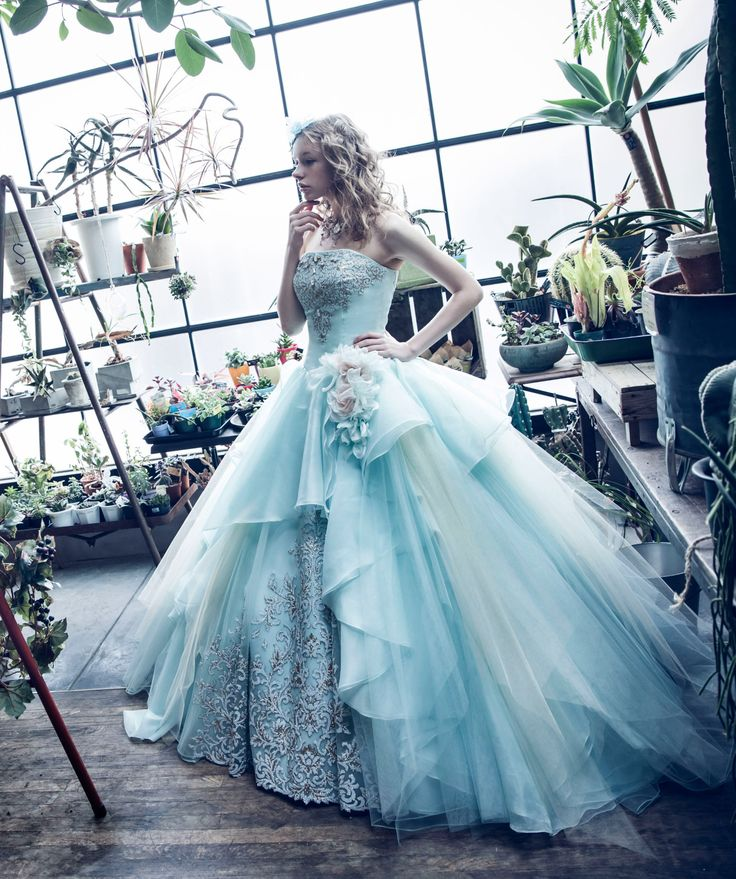 Ice blue strapless ballgown with silver beading and flowers // Pinned by Dauphine Magazine x Castlefield - Curated by Castlefield Bridal & Branding Atelier and delivering the ultimate experience for the haute couture connoisseur! Visit www.dauphinemagazine.com, @dauphinemagazine on Instagram, and @dauphinemag on Pinterest • Visit Castlefield: www.castlefield.co and @ castlefieldco on Instagram / Luxury, fashion, weddings, bridal style, décor, travel, art, design, jewelry, photography, beauty