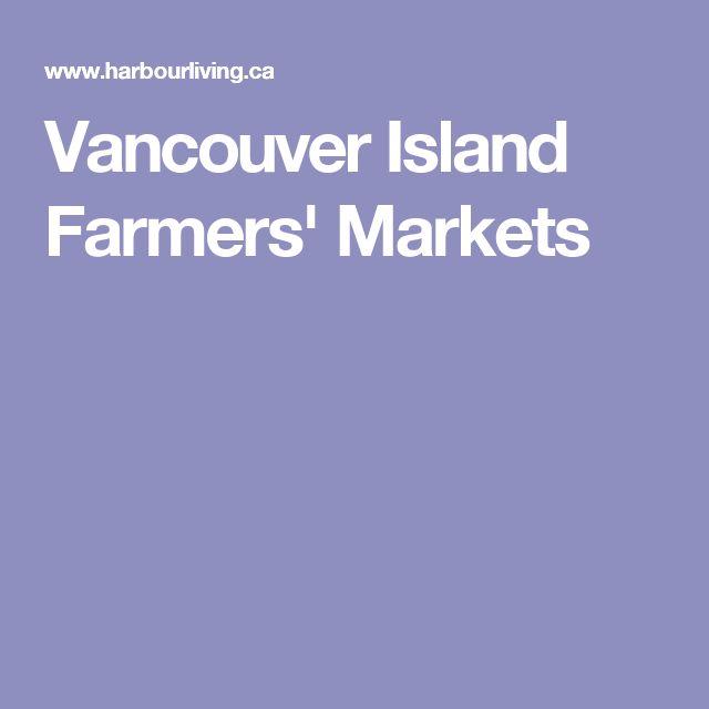 Vancouver Island Farmers' Markets