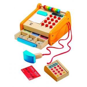 Drewniana kasa dla dzieci, E3121-Hape - zabawa w sklep