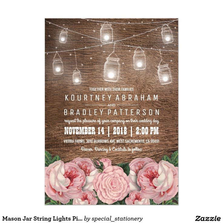 17 best images about rustic mason jars and lights wedding, Baby shower invitations