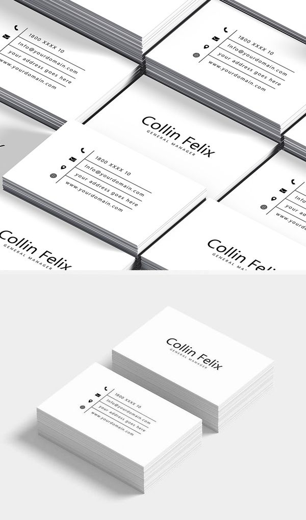 Free Clean Business Card Template Free Business Card Mockup Business Card Mock Up Cleaning Business Cards
