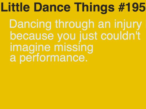 Or not going to the doctor because you know your foot is broken but Oireachtas is 3 weeks away.