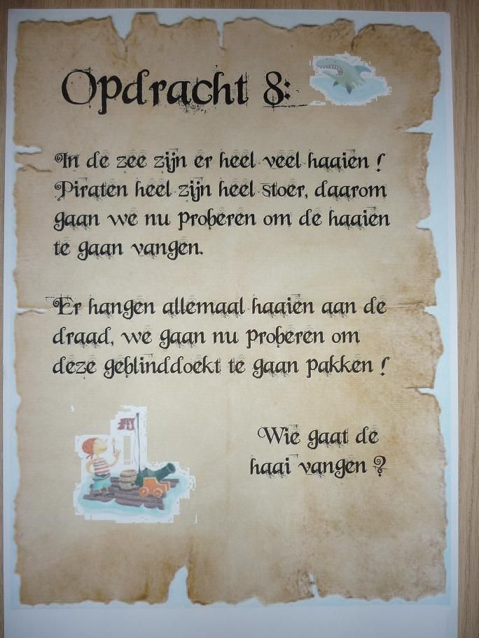Piratentocht, Opdracht 8. -CE-