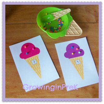 The sprinkles are tiny pom poms--fine motor and math. I'm loving this blog for beginning of year kinder!