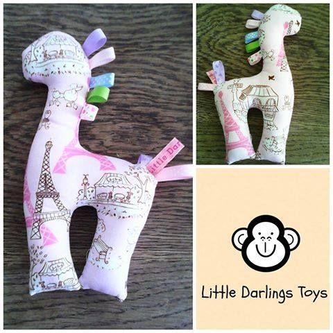 Handmade by Jenny at Little Darlings Toys This cute Paris Giraffe