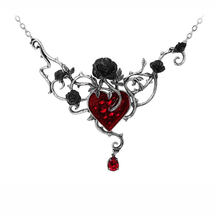 The heart is the seedbed of tangled emotions and condemned romance, as black roses flourish in the heart's blood.