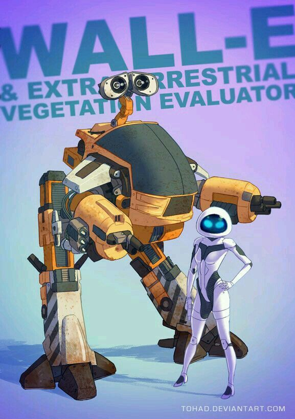 WALL-E & Eva Transformers mode