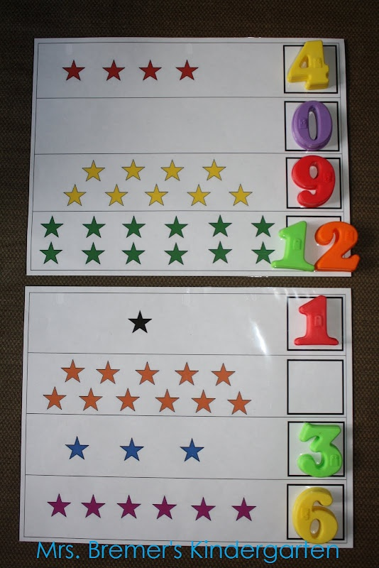 "Counting & number recognition ("",)"