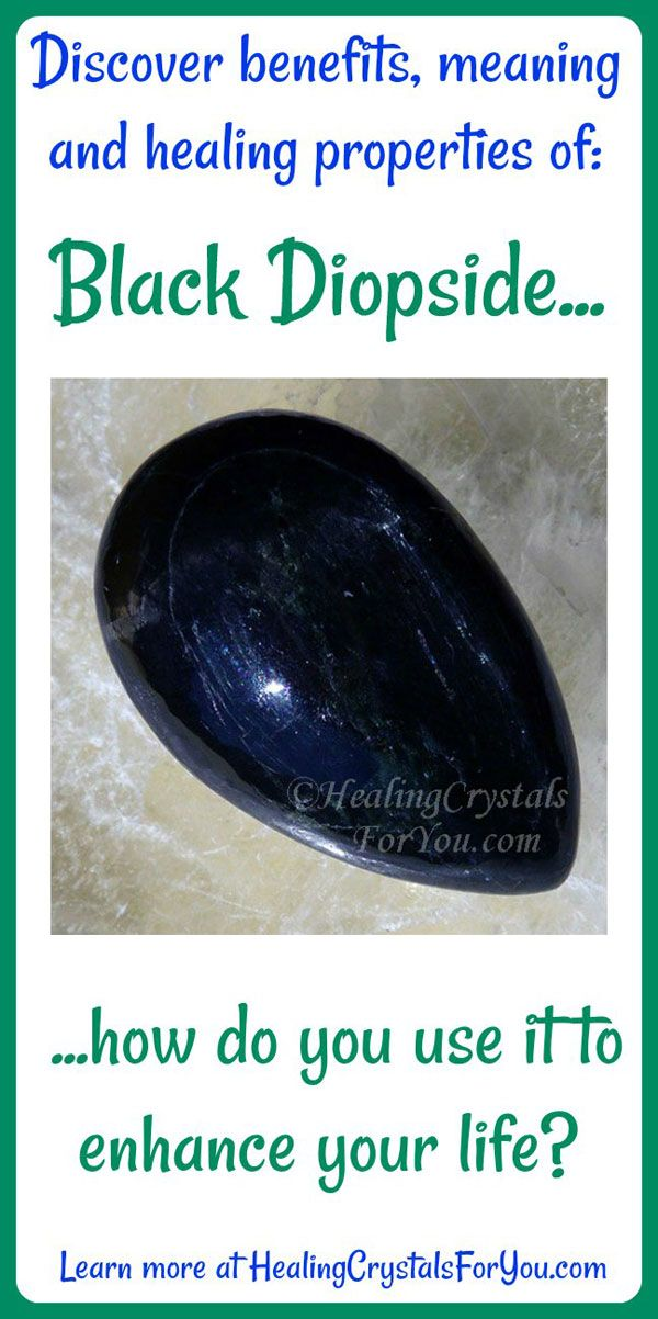 Black Diopside Grounds You & Makes A Good Connection To