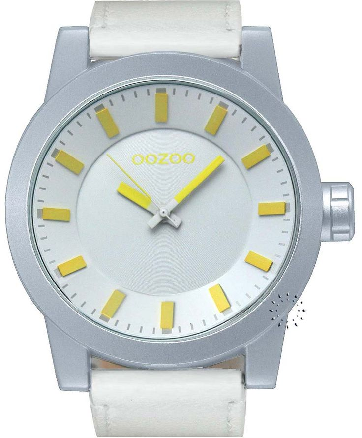 OOZOO Large Τimepieces White Leather Strap Η τιμή μας: 69€ http://www.oroloi.gr/product_info.php?products_id=34677