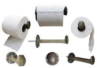 Railroad Spike Toilet Paper Dispenser - eclectic - toilet accessories - san francisco - by Railroadware