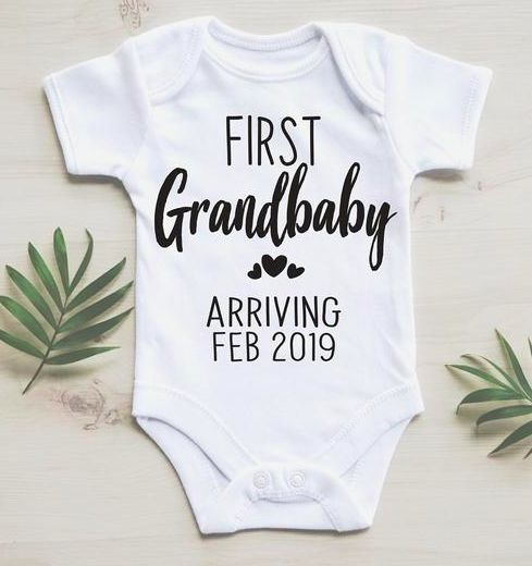 First Grandchild Announcement / First Grandbaby / February Baby Announcement / D…