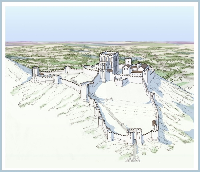 Corfe Castle re-constructuion