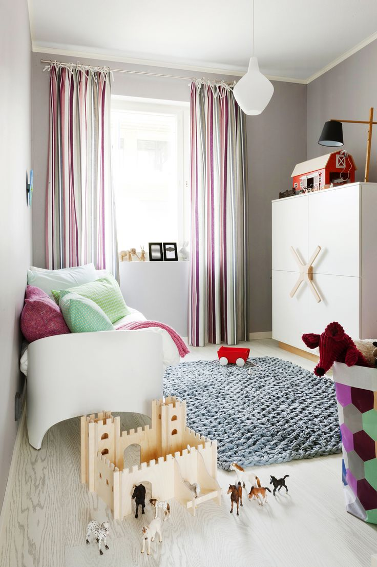 Designer small basement window curtains and pink kids plaid cute kids - Kids Bedroom Awesome White Pendant Lamp With Decorative Kids Room Set Plus Grey Rug Near Pink Striped Window Curtains Design Lovely Rugs To Perfect Your
