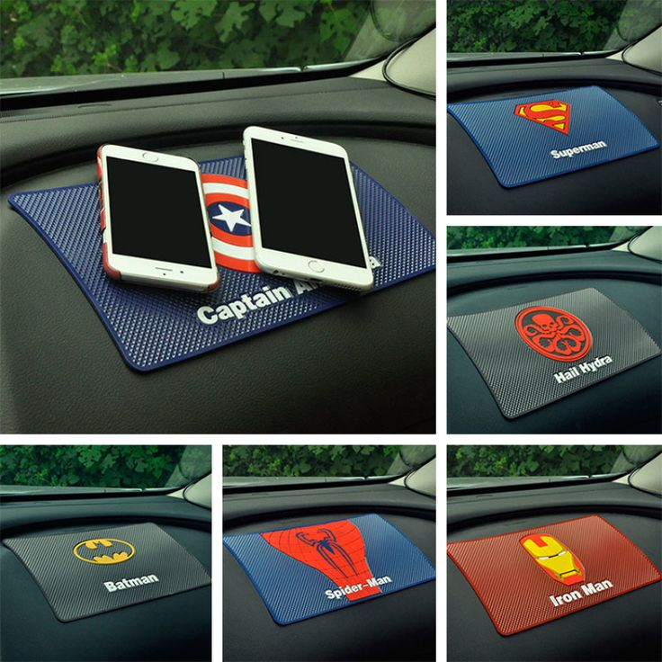 Cheap car phone pad, Buy Quality car pad directly from China car dashboard pad Suppliers: For car mat magic anti non-slip mat support mobile Captain American superhero man Dashboard under the car phone holder pad Large