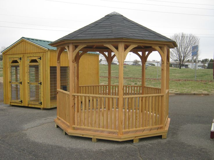 17 best images about younce buildings and storage on for Built in gazebo