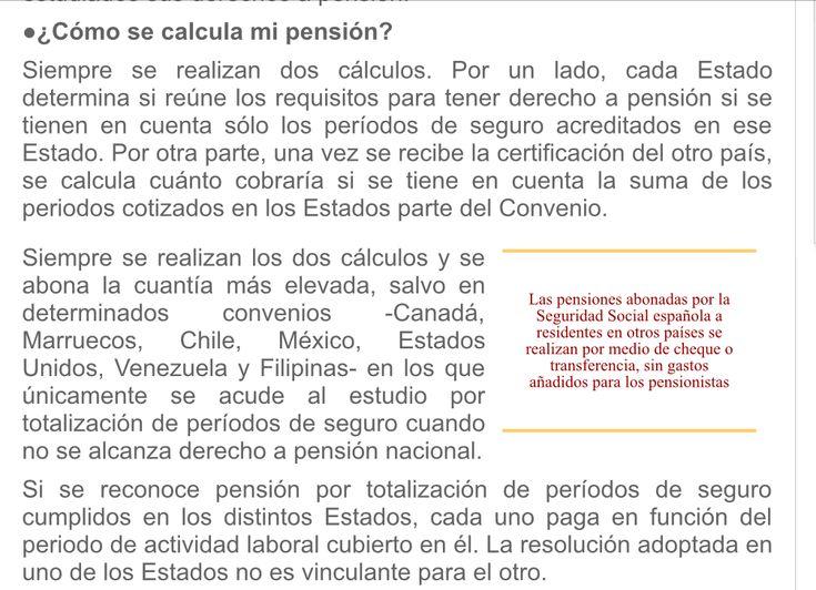 Calculo pensiones con cotizaciones en el extranjero