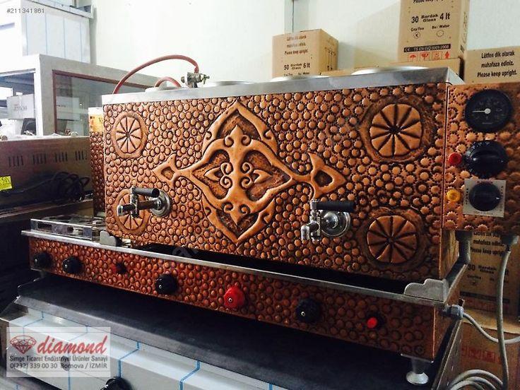4 DEMLİKLİ ÇİFT MUSLUK TAM OTOMATİK BAKIR KAHVECİ TAKIMI - Bar & Kafe Endüstri Ekipmanları sahibinden.com'da - 211341861