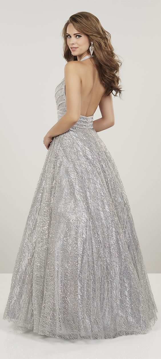 2eee727d6895 SPRING '19 // STYLE 14913   Be red carpet ready in this V neck halter gown  of cracked ice, with strips of glittering rhines…   Panoply - Prom & Formal  in ...