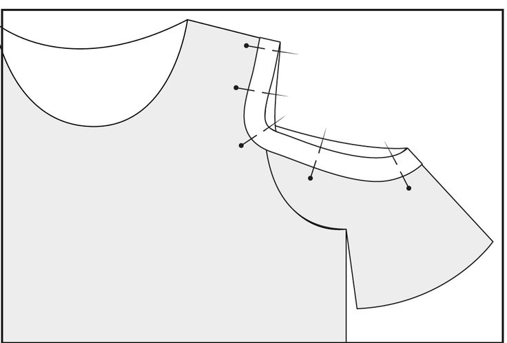 A tutorial to turn any shirt pattern into a cold shoulder top!