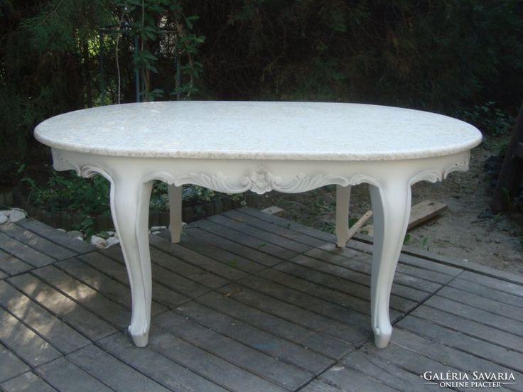 Provence barokk stílusú dohányzó asztal